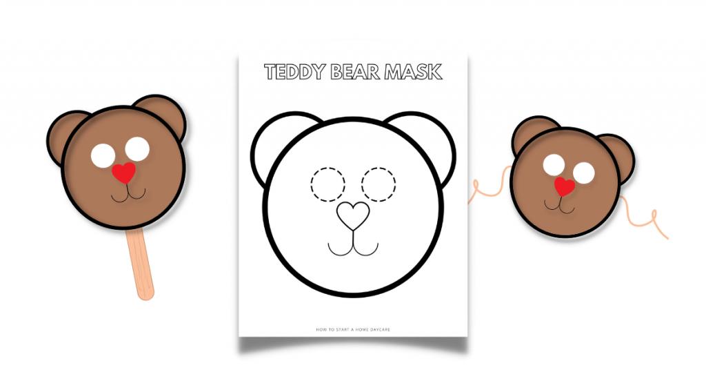 free bear mask printable